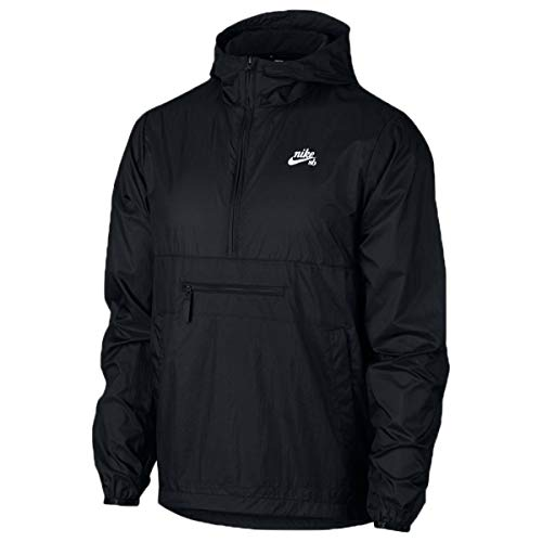 Nike SB Skate Packable Anorak Men's Jacket - Size Small AO0296 (Black/White,)