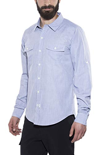 Bergans Justøy Chemise Manches Longues Homme, Chambray Blue Modèle S 2017 T-Shirt Manches Longues