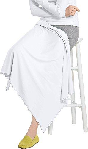 Coolibar UPF 50+ Savannah Sun Blanket – Sun Protective (One Size- White)