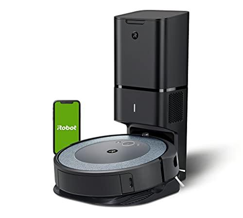 iRobot Roomba i3+ (i3552), Neuheit 2021, WLAN-Saugroboter mit automatischer Absaugstation, 2 Gummibürsten für alle Böden, individuelle Anpassung, Sprachassistenten-fähig, kompatibel mit Braava Jet m6