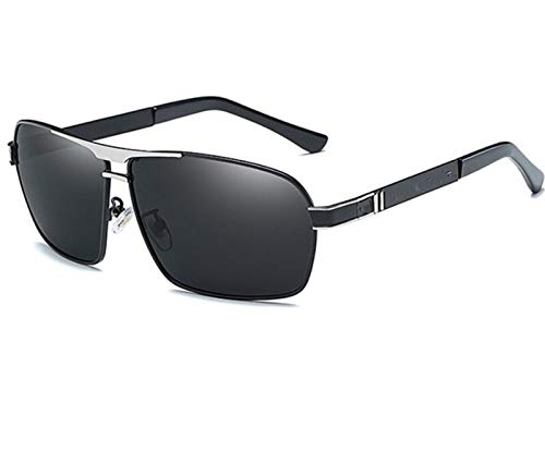 JCNVT Diseño Moderno Gafas de Sol para Hombre Lente polarizada de la Marca Templos de diseño de Gafas de Sol Gafas de Espejo de Recubrimiento para Conducir Viajes