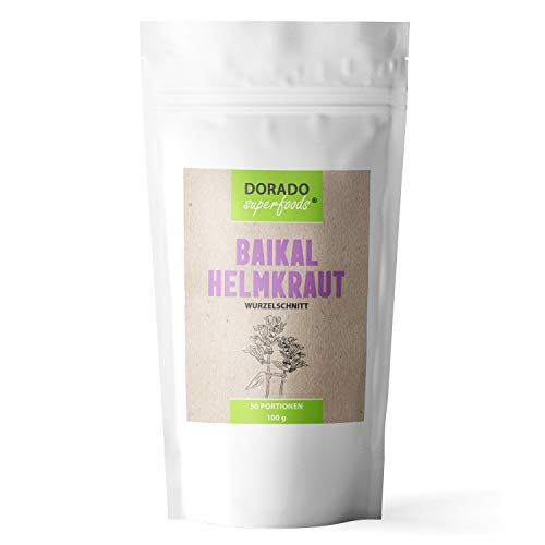 Dorado Superfoods ® Baikal Helmkraut 100% Wurzelschnitt Tee | 100 g - frei von Zusätzen