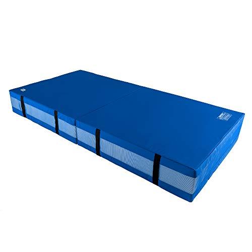 We Sell Mats 30,5 cm dicke Bi-Faltung Gymnastik Crash Landematte Pad, Sicherheit für Tumbling, Rücken Handspring Training und Cheerleading, 1,2 m x 2,4 m, blau