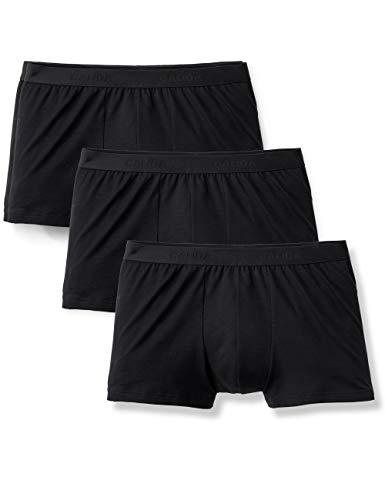Calida Herren Natural Benefit Boxershorts (3er pack), Schwarz (schwarz 992), X-Large (Herstellergröße:XL)