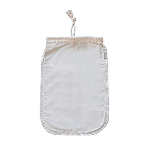 Bolsa de filtro de leche de nuez Delatan, filtro de alimentos reutilizables de algodón orgánico de grado alimenticio, bolsa de filtro de jugo de café de