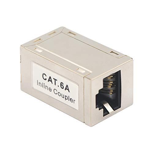 VCELINK RJ45 Kupplung Cat 6A Cat 7 RJ45 Verbinder Lan Kupplung Netzwerk verbinder Modular Geschirmt RJ45 Buchse Adapter für Verlängerung Ethernet Kabel 1 Stück