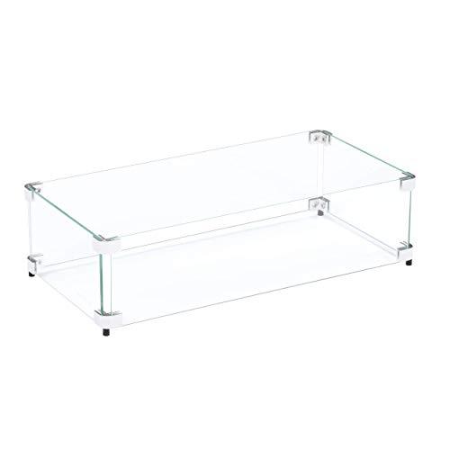 Celestial Fire Glass - 59,7 x 29,2 x 15,2 cm Flammen-/Windschutz, passend für Celestial 45,7 x 15,2 cm Feuerschalenbrenner