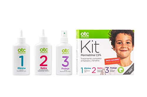 Otc Antipiojos Kit 123 Permetrina Tratamiento Completo antip