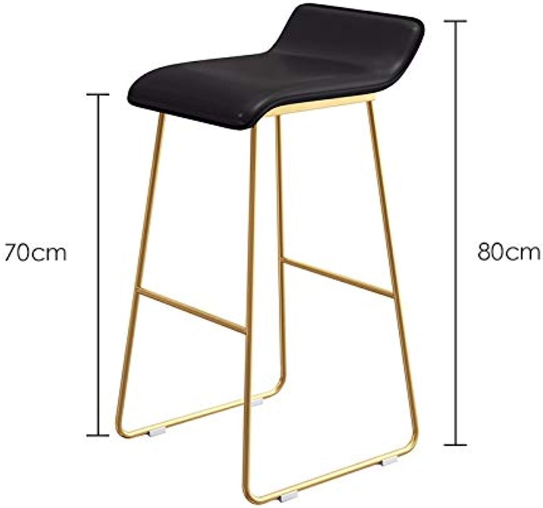 Metal Chair, Plastic Seat Bar Restaurant Living Room Stool Balcony Attic Chair Multifunction Bar Stool Height 45-75CM (color   D, Size   80cm)