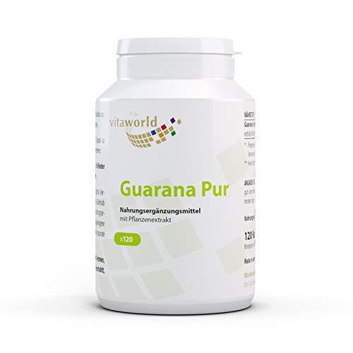 3er Pack Vita World Guarana pur 500mg 360 Kapseln Apotheken Herstellung