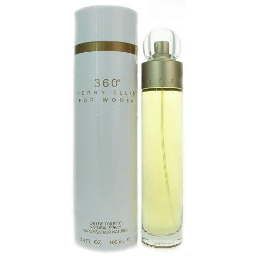Perry Ellis 360 for Women Eau De Toilette Spray, 3.4 Ounce