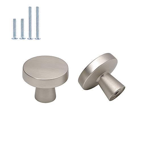 5 pomos para muebles plateados de acero inoxidable LS5310SNB, tiradores de un solo agujero para puertas, cajones, muebles, cocina, baño