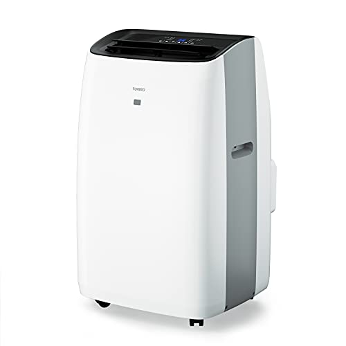 TURBRO Greenland 14,000 BTU Portable Air Conditioner and Heater, Dehumidifier and Fan, 4-in-1 Floor AC Unit for Rooms up to 600 Sq Ft, UV-C Light, Sleep Mode, Timer, Remote Included