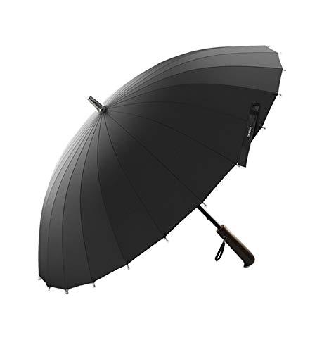 XHJLNNY XINHEJULN 24 K Fuerte a Prueba de Viento, Longitud 77 cm, Diámetro 100 cm, Marco de Fibra de Vidrio, Paraguas de Madera de Madera Exquisito y aplicable (Color : Dark Blue)