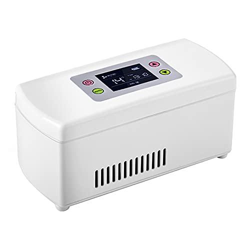 WDAA Tragbare Insulin Kühlbox für Medikamente Mini Intelligente Elektrische Kühlschrank Kühltasche Thermostat USB Geeignet - füR Reisen/Interferon/Lagerung von Arzneimitteln