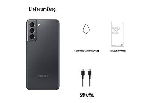 Samsung Galaxy S21 5G, Android Smartphone ohne Vertrag, Triple-Kamera, Infinity-O Display, 128 GB Speicher, leistungsstarker Akku, Phantom Gray - 6