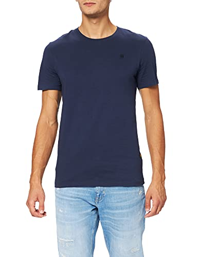 G-STAR RAW Base-s r t s/s Camiseta, Azul (Sartho Blue 336-6067), L para Hombre