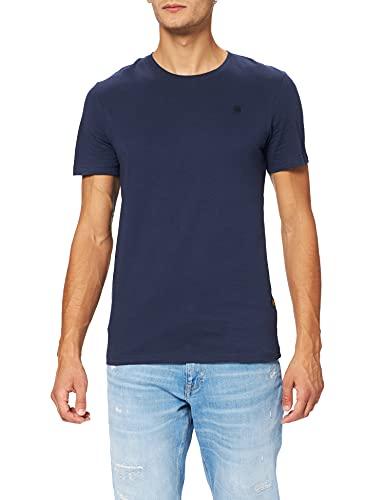 G-STAR RAW Base-s r t s/s Camiseta, Azul (Sartho Blue 336-6067), M para Hombre