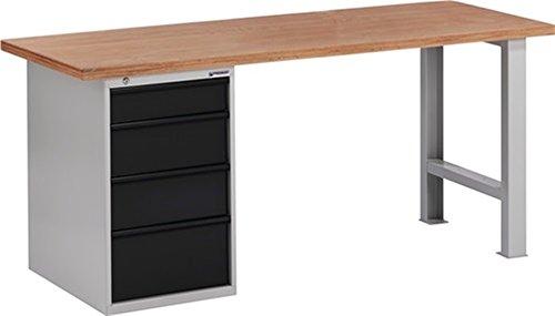 Promat Werkbank BT 495 B2000xT700xH840mm grau/anthrazit Schubladen 1x125 2x175 1x225mm