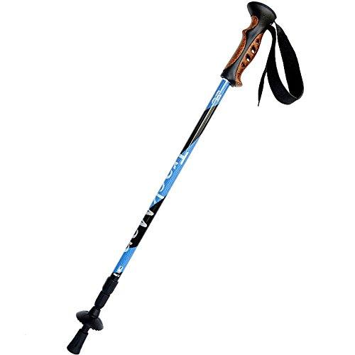 Lmzyan Alliage d'aluminium extérieur 3 réglables Heigh Light Bâtons de randonnée / Poteaux de marche 65-135cm , days blue