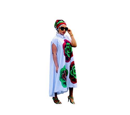 GGTBOUTIQUE - Vestido Tradicional Africano con Estampado de Dashiki para Mujer