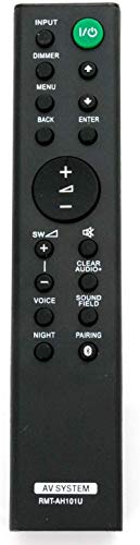 NKF New RMT-AH101U Replaced Remote for Sony Sound Bar HT-CT380 HT-CT780 HT-CT381