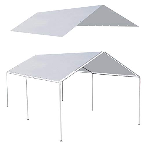 Strong Camel New 10'x20' Canopy for Tent Garage Tarp Top Shelter Cover w Cable Ties (Only Cover, Frame is not Included)