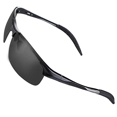CHEREEKI Gafas de Sol Deportivas, Gafas de Sol Polarizadas