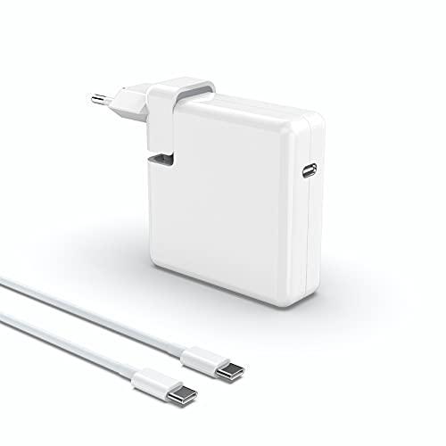 Cargador USB C, Adaptador Corriente USB C 61W,Type C USB C Cargador de Adaptador de Corriente para Mac Book Pro/Air, i-Pad Pro, i-Phone 11/11 Pro/Pro MAX, HP, ASUS, Mayoría de Los Dispositivos Tipo C