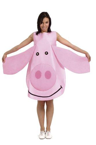 César - Disfraz de cerdo para adultos, talla única