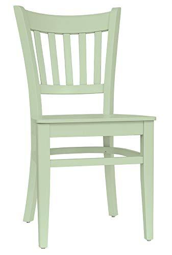 Set 2 Stühle Stuhl Esszimmerstuhl Küchenstuhl Buche massiv mintgrün *T002