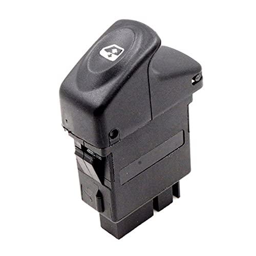 Aouoihnb Botón de Interruptor de Espejo de Ventana eléctrica Durable fácil de Instalar para Renault Kangoo Megane Clio (Color : Black)
