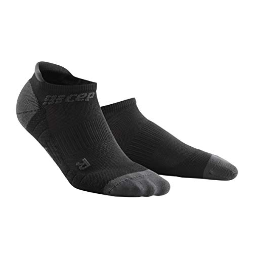 Women's Compression Socks - CEP No Show Socks 3.0, Black/Dark Grey III