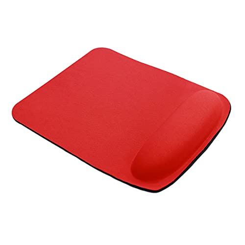 HRH Ergonomic Gaming Mouse Pad with Wrist Support Gel Rest for Laptop at Internet Cafe, Home & Office, Non-Slip Silicone Base Mouse Mat X01-red