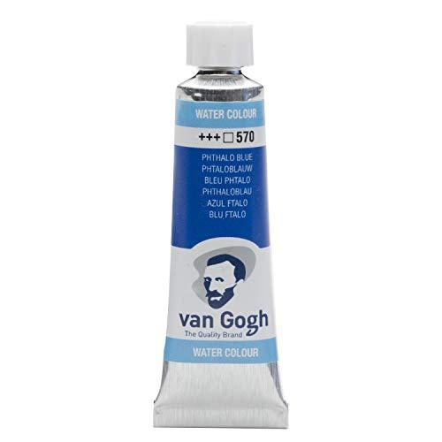 10ml–pintura de acuarela de Van Gogh–Phthalo azul