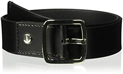 Calvin Klein Women's 42mm Flat Strap with Logo Plate, black, M