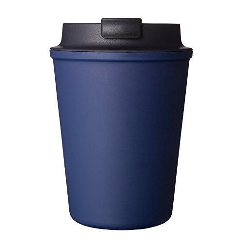 Ríos Vaso wallmug plástico de Doble Pared Taza de Viaje, Azul, 350ml