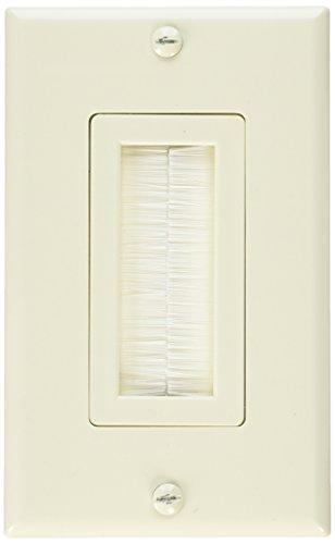 Vanco 120815X Decor Style Brush Bulk Cable Wall Plates, Almond (VAN-120815X)
