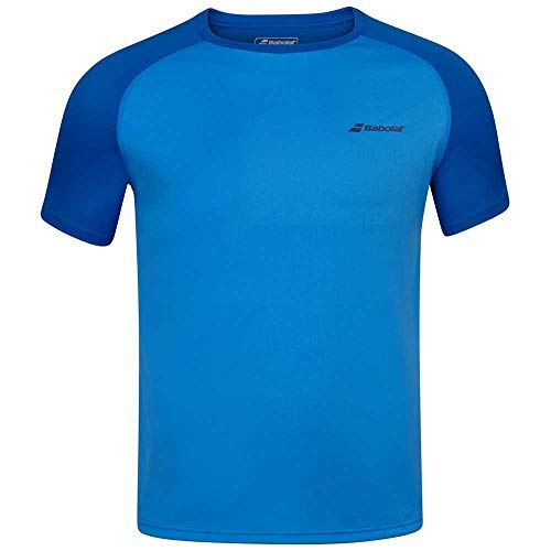 Babolat Play Crew Neck tee Men Camiseta, Hombre, Blue Aster, L