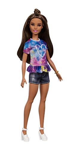 Barbie FYB31 Fashionistas Doll 112, Dye Dreamer - mała, wielokolorowa