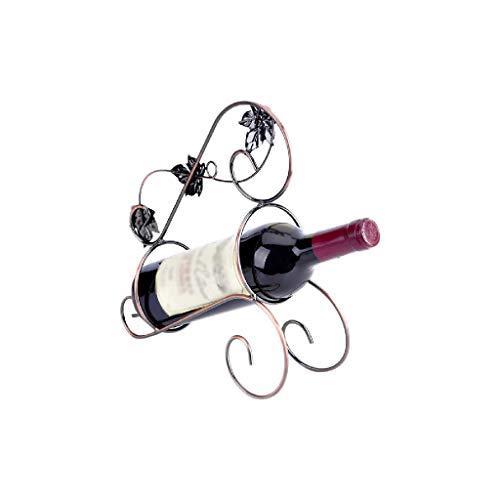 NXYJD Iron & Wine Rack Creativo Estante del Vino del Estante del Vino Europeo portátil con Hierro Libre Que coloca el sostenedor
