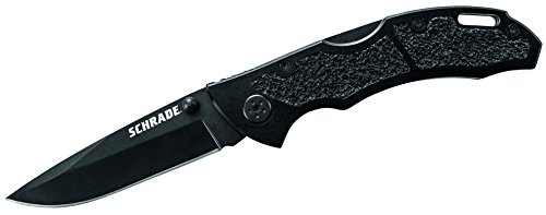 Schrade Black Drop Point Lockback