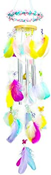 Platycodon Colored Feathers Wind Chimes