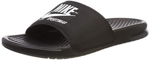 Nike Benassi JDI Txt Se, Scarpe da Scogli Uomo, Multicolore (Black/White 001), 44 EU