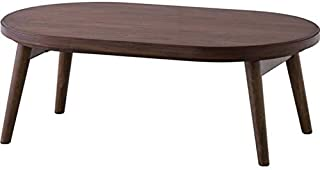 AZUMAYA Folding Legs Wooden Kotatsu Heater Table Natural Solid Rubberwood Corona-100 Home and Living