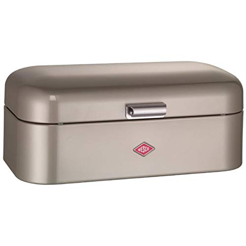 Wesco Grandy – German Designed - Steel bread box for kitchen / storage container, Silver