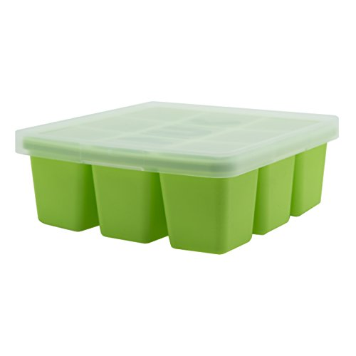 NUK Food Cube Tray with Lid for Freezing Baby Food | 6 Months+ | Dishwasher Safe | BPA F
