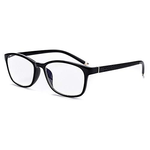D&XQX anti-blu-ray-bril voor het lezen van een bril TR90 hars frame voor het lezen, dioptrieën, 1,0 A 3,5