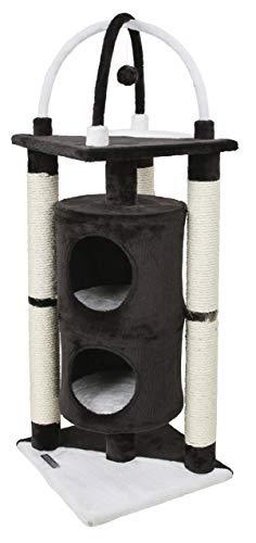 Kerbl 81507 Kratzbaum Onyx, 38 x 38 x 107 cm, schwarz/weiß