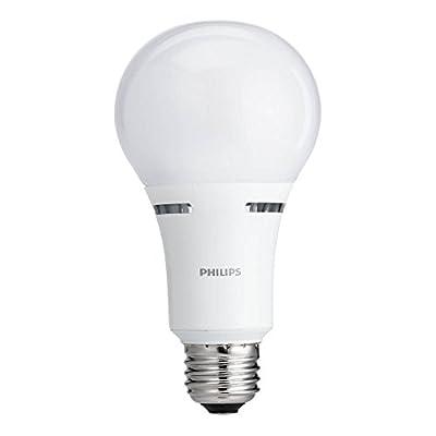Philips LED 3-Way A21 Light Bulb: 1600-800-450-Lumen, 2700-Kelvin, 18-8-5-Watt (100-60-40-Watt Equivalent), E26D Base, Frosted, Soft White (California Residents Only)